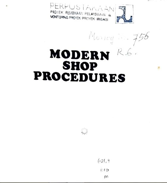 Modern Shop Procedures