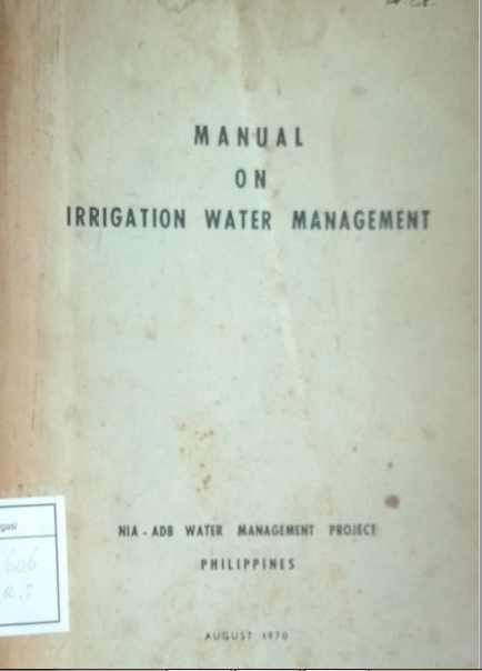 Manual On Irrigation Water Management