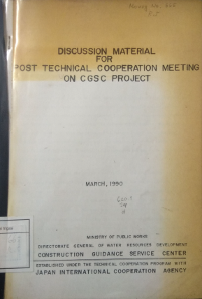 Discussion Material For Post Technical Coorporation Meeting On CGSC Project