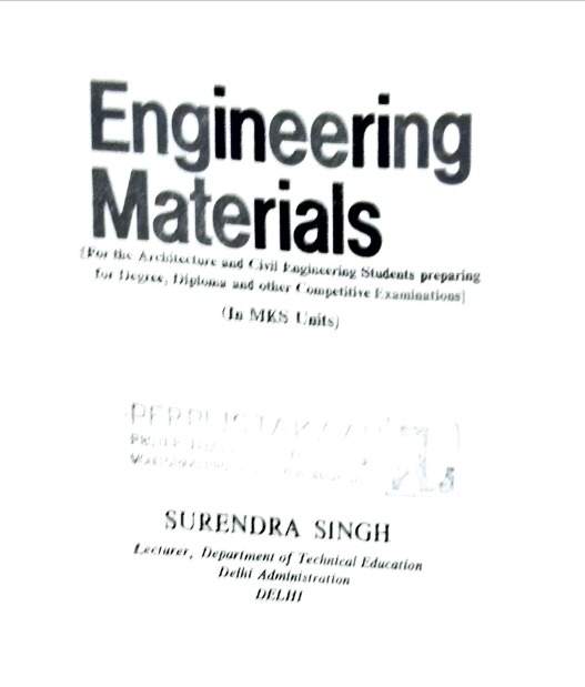 Engineering Materials 2nd Revised Edition