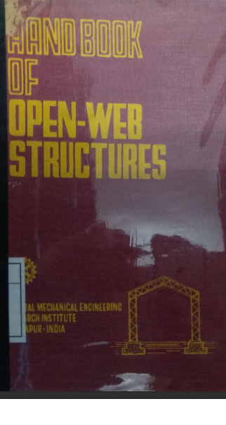 Hand Book Of Open-Web Structures