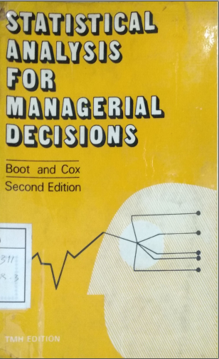 Statistical Analysis For Managerial Decisions