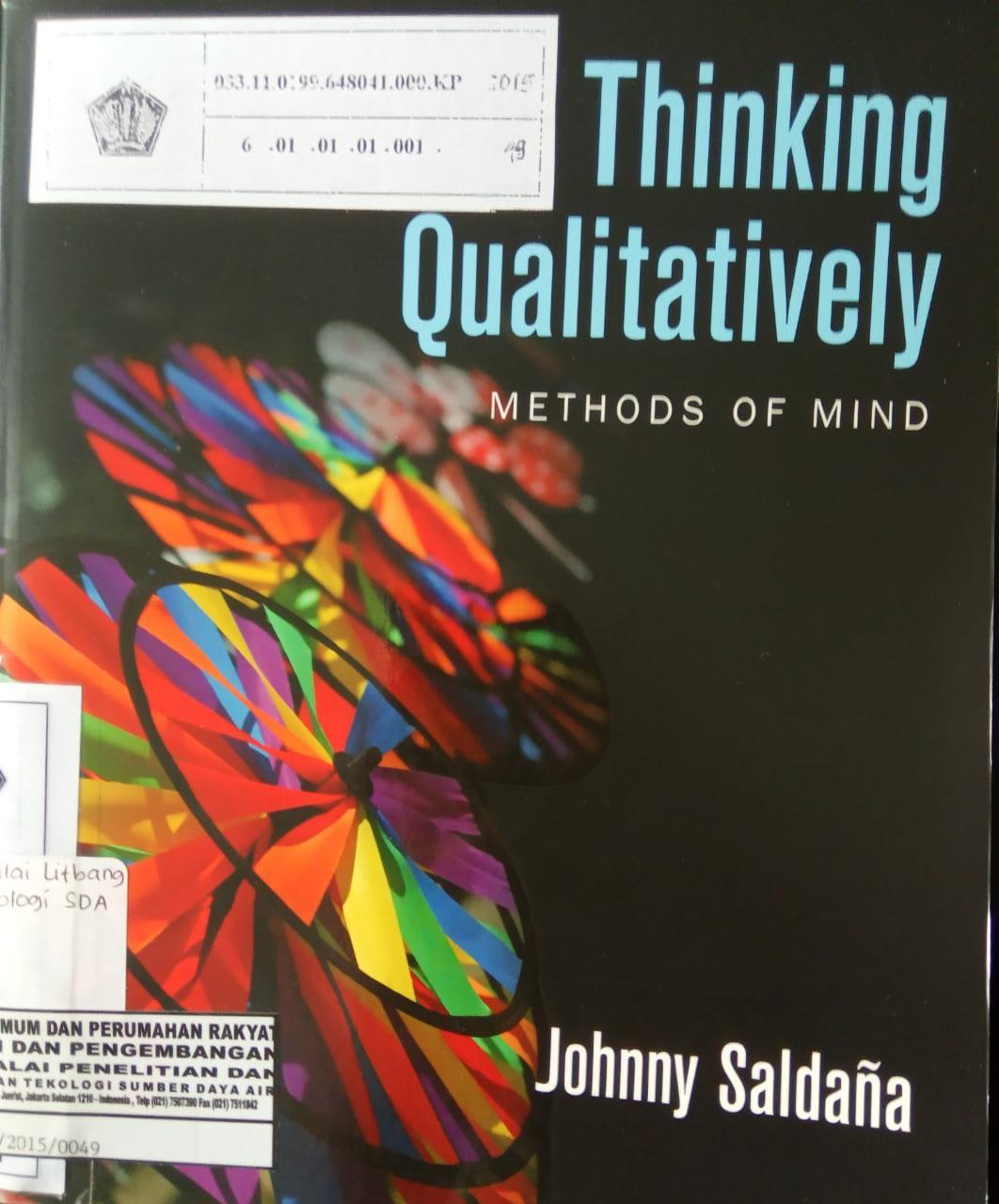 THINKING QUALITATIVELY METHODS OF MIND