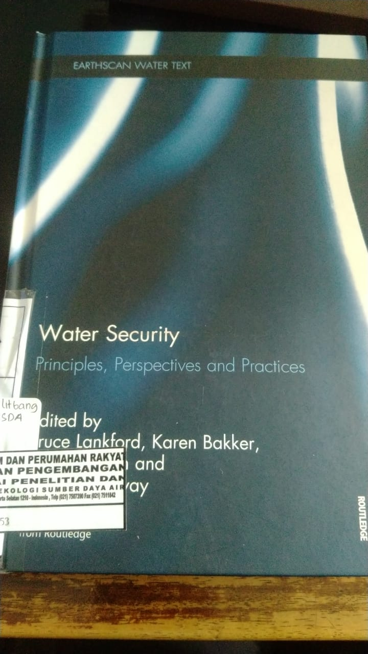WATER SECURITY PRINCIPLES, PERSPECTIVES AND PRACTICES