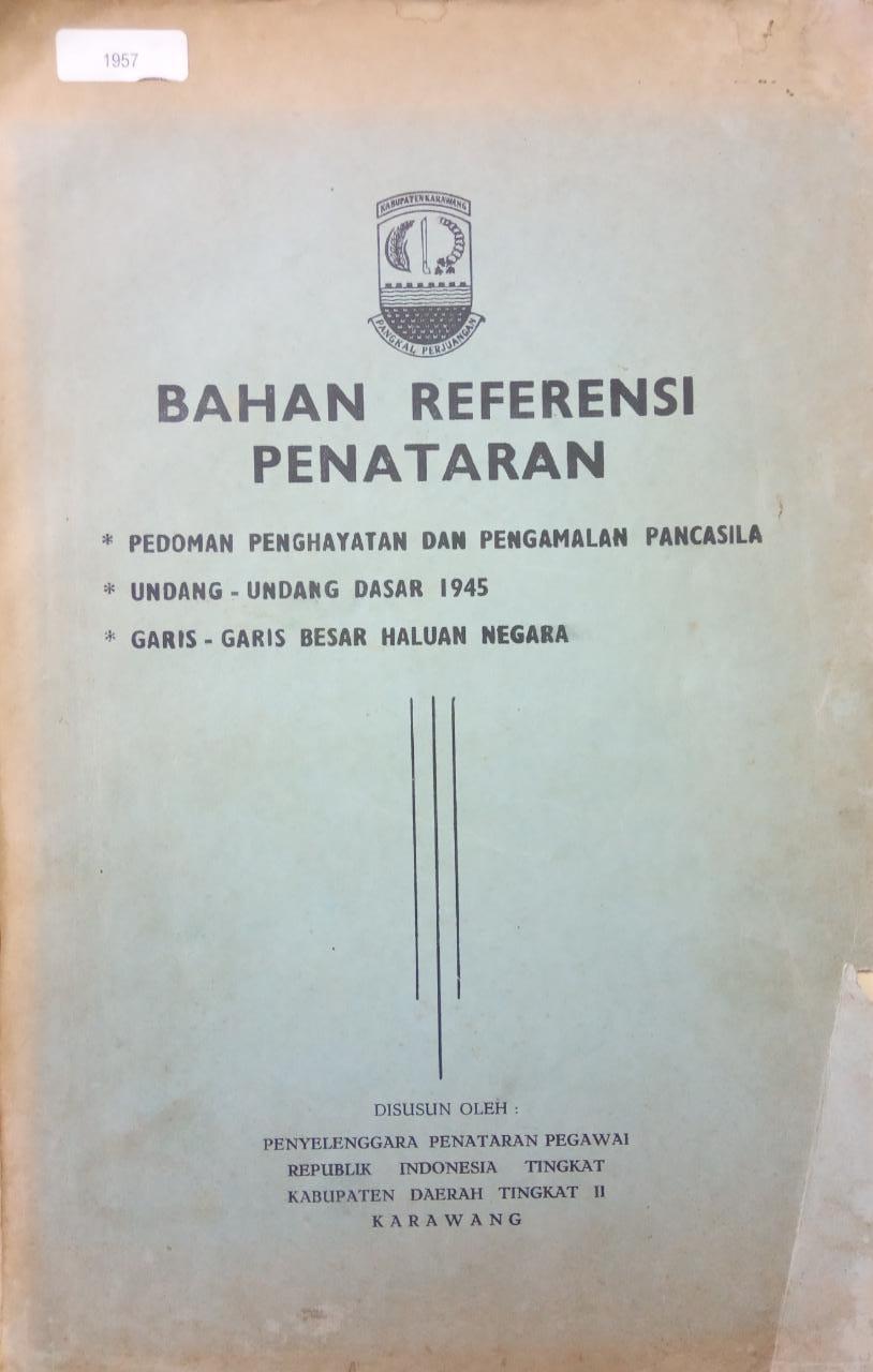 BAHAN REFERENSI PENATARAN