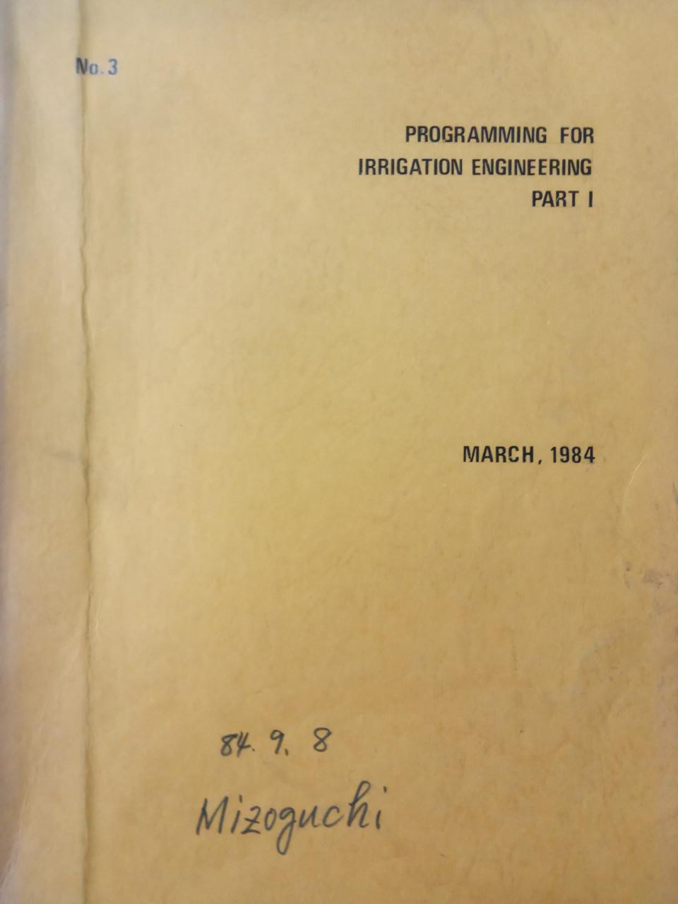 PROGRAMMING FOR IRRIGATION ENGINEERING
