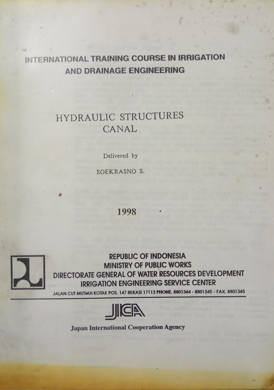 HYDRAULIC STRUCTURES CANAL